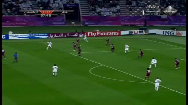 Odil Ahmedov ~ Qatar vs Uzbekistan ~ 07-01-2011.mp4