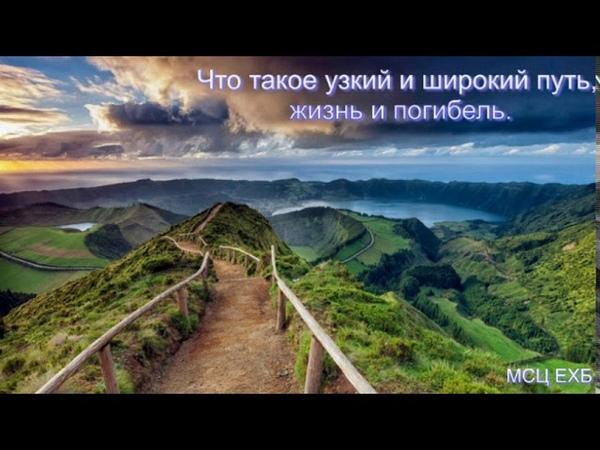 Что такое узкий и широкий путь, жизнь и погибель. С. Ф. Герасименко. Проповедь. МСЦ ЕХБ.