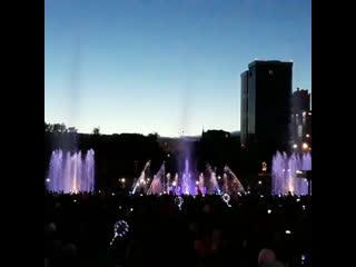 Открытие светомузыкального фонтана в Перми
