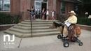 Crazy Cranford Cowboy rides a homemade battery-powered horse