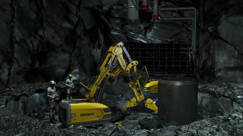 BROKK в подземном строительстве Анимационный ролик
