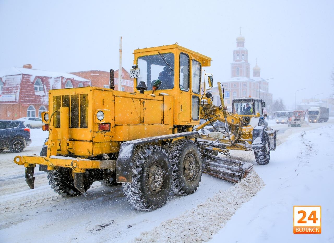 В Волжске определен порядок расчистки улиц от снега