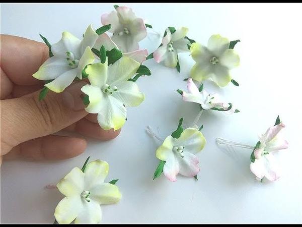 Маленькие цветочки из фоамирана для создания Веночков Ободочков Заколок Букетиков Резинок