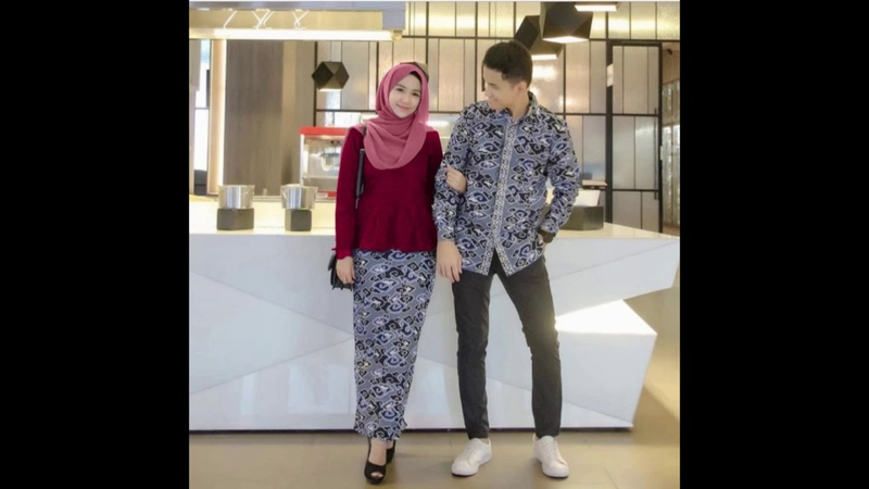 Setelan Modern Batik Couple Sarimbit Remaja Terbaru Kemeja Lengan Panjang Motif Mega Mendung