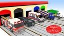 Garajdan Çıkan Oyuncak Arabalar ile Çocuklar İçin Renkleri Öğreniyorum Videoları