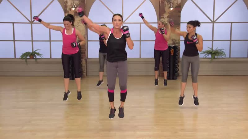 Cathe Friedrich 2 Boxing Bootcamp Legs Glutes Fit Split