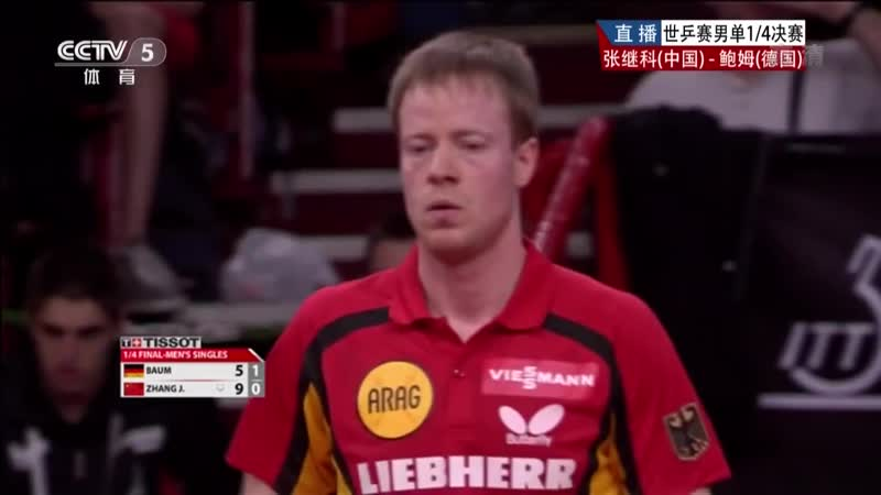 2013 WTTC (ms-qf) ZHANG Jike - BAUM Patrick [HD] [Full Match_Chinese]