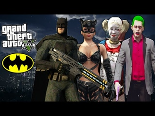 GTA 5 Mods - ULTIMATE BATMAN MOD w/ Catwoman, Joker, Harley Quinn (GTA 5 Mod Gameplay)