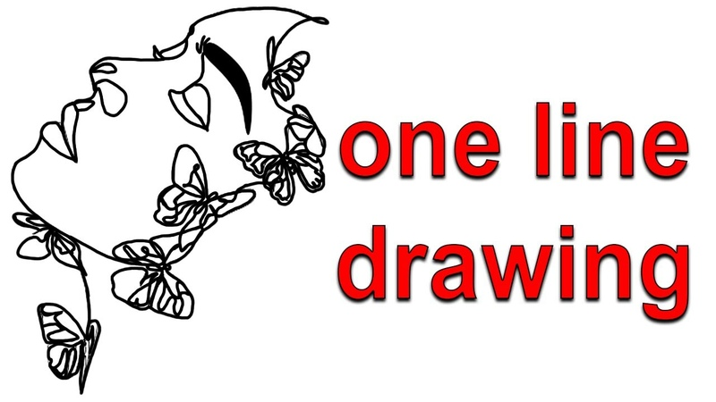 Single continuous one line drawing tutorial easy step