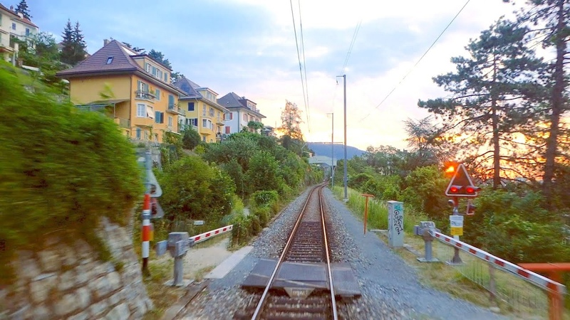 ★ Biel - Moutier, Beautiful cab ride through the Jura mountains of Switzerland [07.2019]