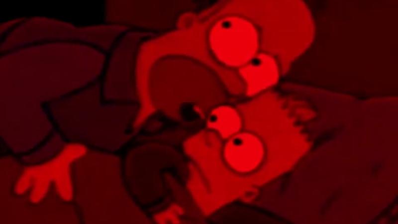 Homer tells Bart about the Doom Slayer