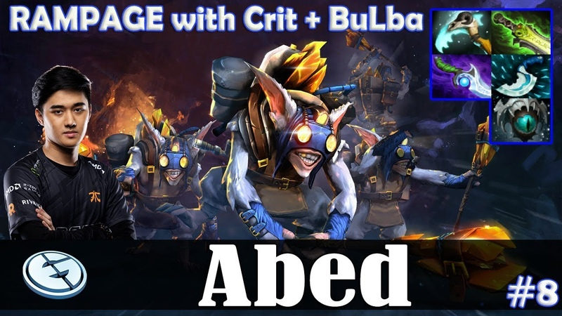 Abed - Meepo MID | RAMPAGE with Crit BuLba | Dota 2 Pro MMR Gameplay 8