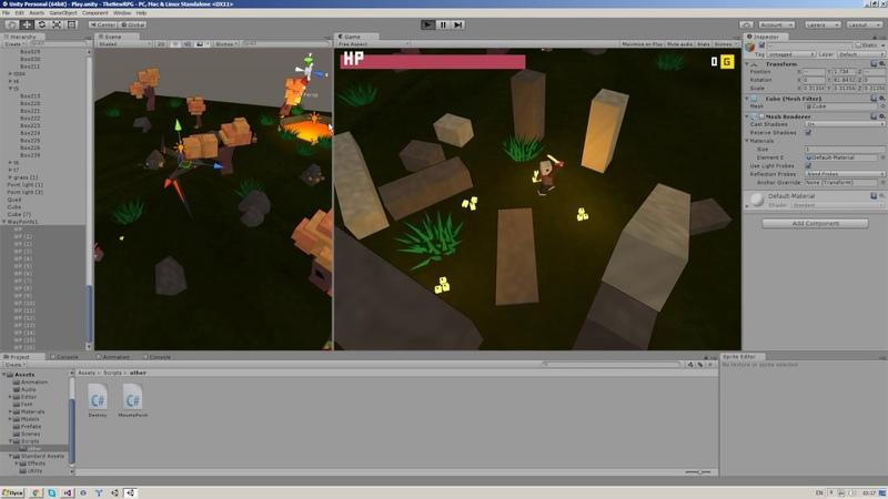 Создаем RPG игру в Unity3D 5 [Урок 7 ч.1] - Лут и дроп