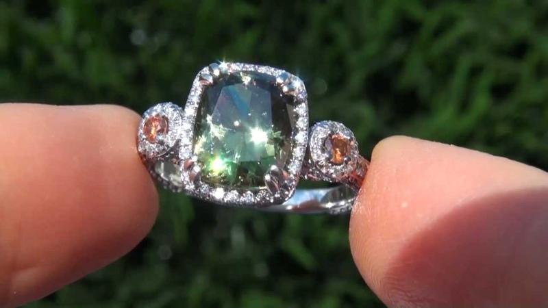 GIA CERTIFIED Estate 6.05 ct VVS2 Demantoid Garnet Diamond PLATINUM Vintage Ring
