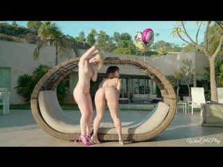 Charlotte Stokely & Jenna Sativa in Lingerie Party [Ass Worship, Outdoors, Lesbian, Blonde, Latina, Brunette, 1080p]