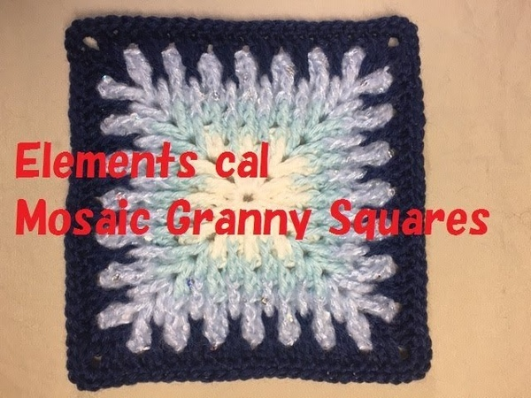 Elements cal モザイクグラニースクエア Mosaic Granny Squares の編み方
