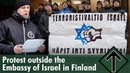 Protest outside the Embassy of Israel in Finland — Nordic Resistance Movement