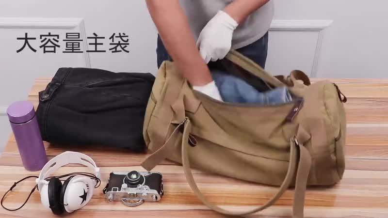 Новый большой емкости дорожная сумка мужской рюкзак мужской багаж водонепроницаемый холст ведро сумки на ремне альпинизм рюкзак
