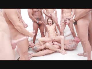 [legal ass]timea bella 15-man anal gangbang with dap, piss drinking