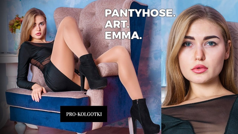Top Model Posing in Pantyhose on Her Long Legs - Tights Art Magazine 2018-03(2)