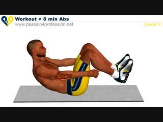 Спорт 24/7. 8 минут Abs Workout Level 1,2,3 (Смерть живота)