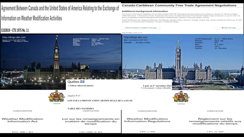 2017 ONEALEARTH CANADA QUEBEC MODIFICATION DU TEMP WEATHER MODIFICATION LAW
