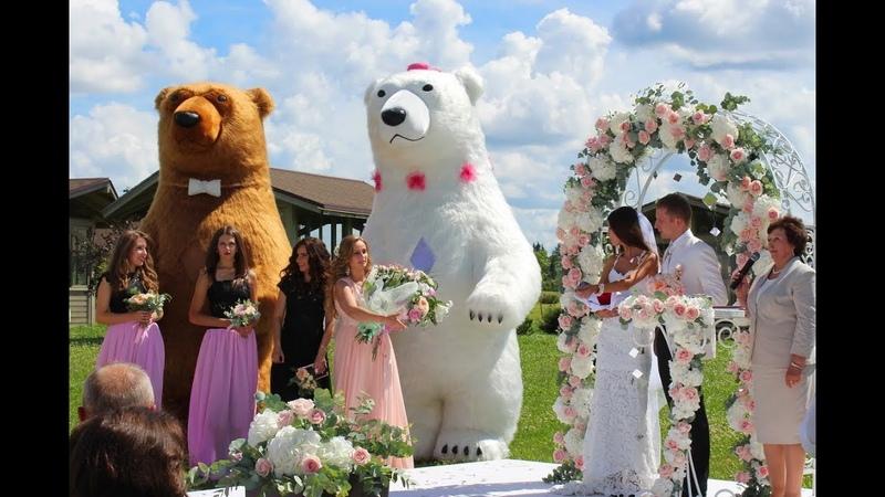 Шоу танцующих гигантских медведей в Минске. Giant dancing bears show