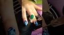 Наращивание ногтей акрил. Дизайн хрустальные цветы