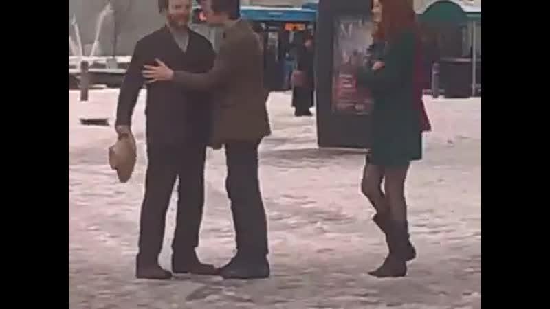 06 01 2010 Съемки 5x10 Винсент и Доктор в Уэльском Миллениум центре