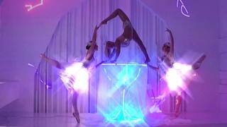 Световое шоу Девушка в Бокале с лазерными проекциями