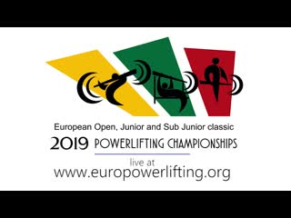European classic powerlifting championships 2019 in kaunas / lithuania open, sub-junior and junior
