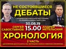 Дебаты Сергея Савостьянова с Метельским (часть 2)