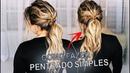 Como fazer penteado em você mesma por Priscila Barbosa