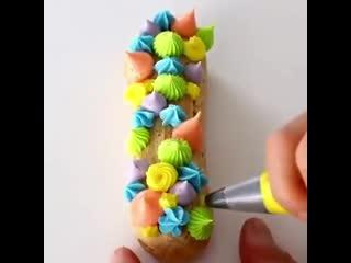 """Как ярко и красочно украсить эклеры! / наша группа в  """"торты на заказ. мировые шедевры""""."""