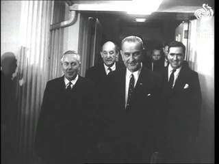 President Johnson's Two Visitors Harold Wilson And Andrei Gromyko (1964)