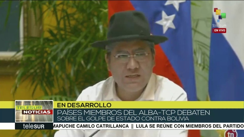 Canciller Pary denuncia ante ALBA golpe de Estado en Bolivia
