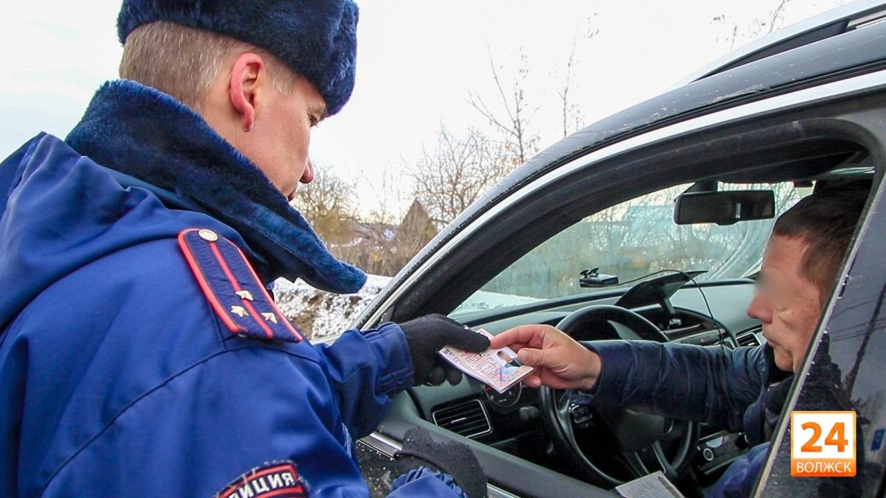В Волжском и Звениговском районах начались массовые проверки водителей на трезвость