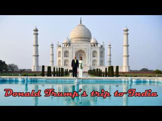 U.s. president donald trump and first lady melania trump in india
