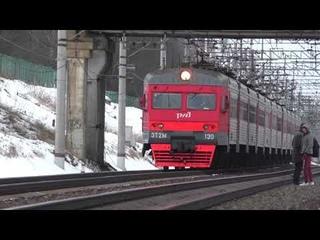 Электропоезд ЭТ2М-130 сообщением Клин - Москва