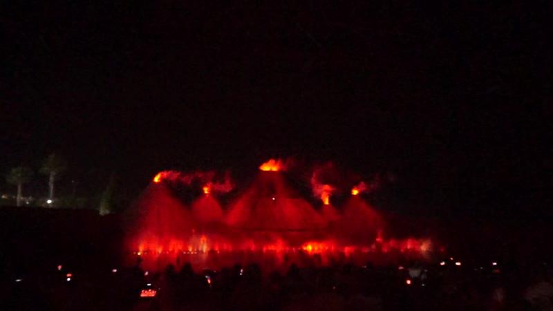 Шоу магия танцующих фонтанов. Протарас. Кипр. (Вулкан)
