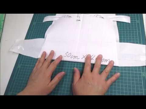 型紙作り方 ショルダーバッグ作り方 Shoulder Bag