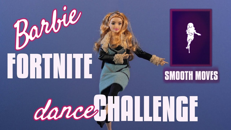 Smooth Moves Barbie Fortnite Dance Challenge Stop Motion Animation Barbie Curvy Yoga MTM Doll