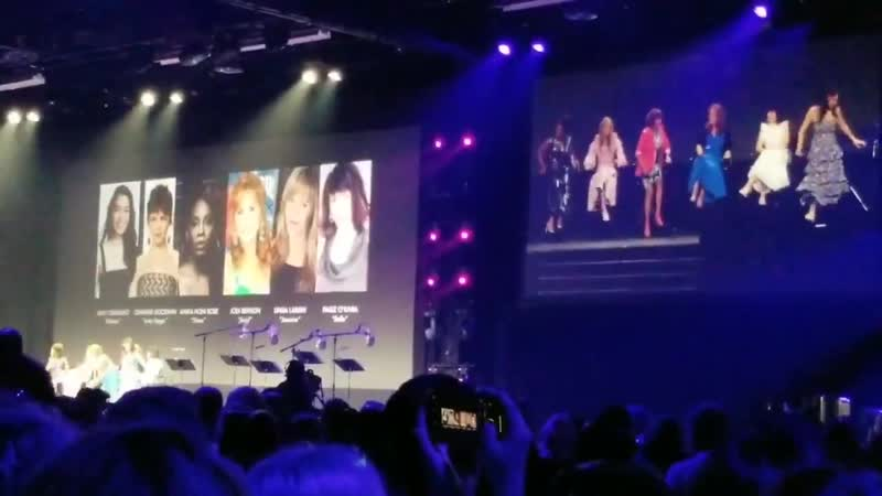 The ladies on stage!