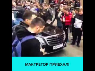 Фанаты, встречающие Конора Макгрегора, парализовали движение на Тверской  Москва 24