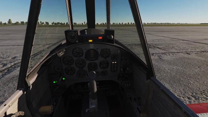 Запуск самолёта из кабины Як 52 Авиасимулятор DCS