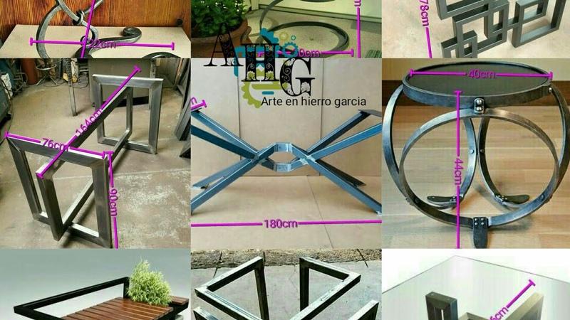 Fabrica en hierro con estás muestra y medida. Arte en hierro garcia