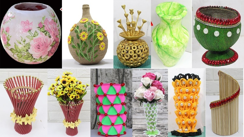 10 Best collection Flower Vase from different materials 2