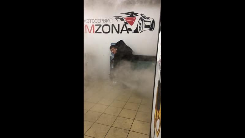 Сухой туман в помещении автосервиса Remzona