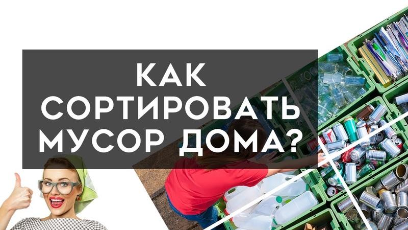 Сортировка мусора в домашних условиях Раздельный сбор