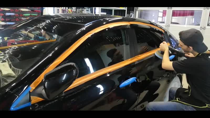 Процесс полировки автомобиля KIA RIO